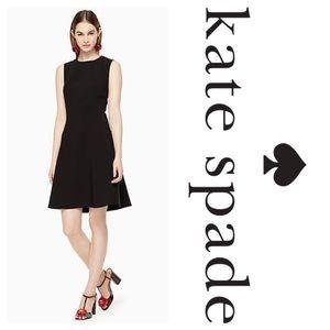 New Kate Spade Stretch Crepe Flip Dress Black
